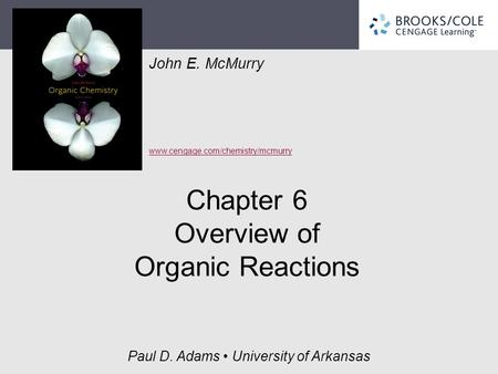 Chapter 6 Overview of Organic Reactions