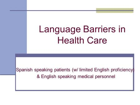barriers in speaking english in pdf