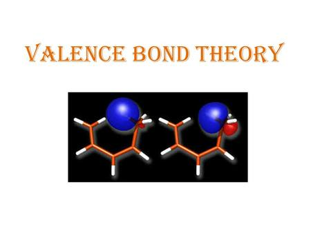 VALENCE BOND THEORY. Valence Bond Theory (VB – T) Introduced by Heilter and London (1927), after which this theory also known as London Forces. Based.