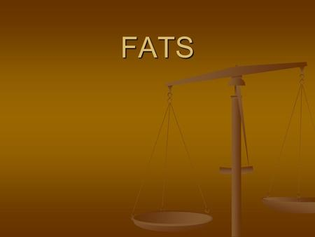 FATS. What are Fats???? Fats are basic nutrients needed for: Fats are basic nutrients needed for: Proper functioning of cells Proper functioning of cells.