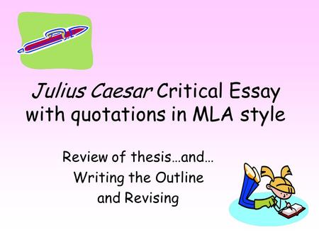Julius caesar essay on supernatural