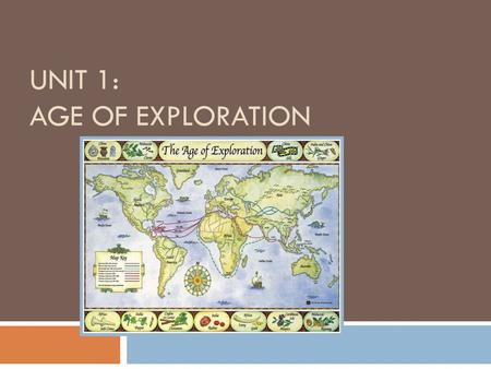 UNIT 1: AGE OF EXPLORATION. Today's essential question Why was there a desire for direct trade to Asia and how did it lead England to create colonies.
