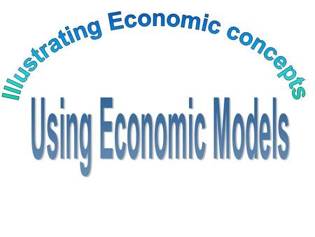Theories or Models An Economic model is a simplified way to explain how the economy (or parts of it) work and to make predictions about what could happen.