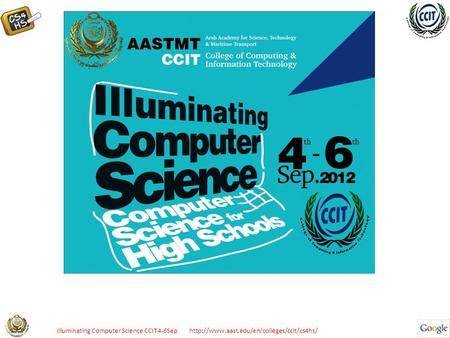 Illuminating Computer Science CCIT 4-6Sep