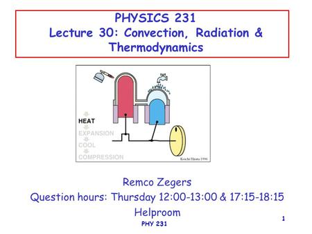physics 231 lecture 31 engines and fridges ppt video online download. Black Bedroom Furniture Sets. Home Design Ideas