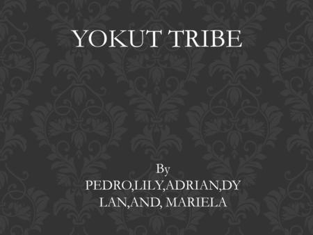 YOKUT TRIBE By PEDRO,LILY,ADRIAN,DY LAN,AND, MARIELA.