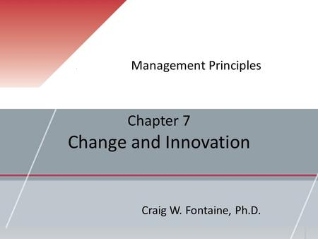 Chapter 7 Change and Innovation