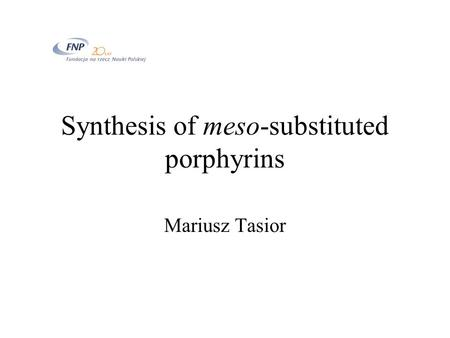 Synthesis of meso-substituted porphyrins
