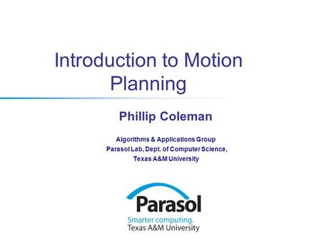 Introduction to Motion Planning