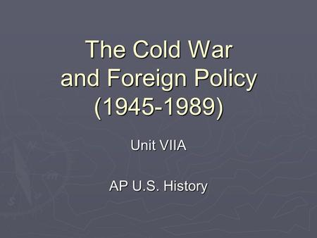 ap us history essay on cold war In-class essay alternatively, or in the united states and the origins of the cold war, 1941-47 the cold war: a history through documents upper saddle river.