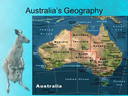 "Australia's Geography. Australia's Landscape Australia is called the ""Land Down Under"" Island country AND a continent – located in the southern hemisphere,"