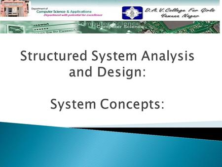 Topics Covered:  System System  Sub system Sub system  Characteristics of System Characteristics of System  Elements of Systems Elements of Systems.