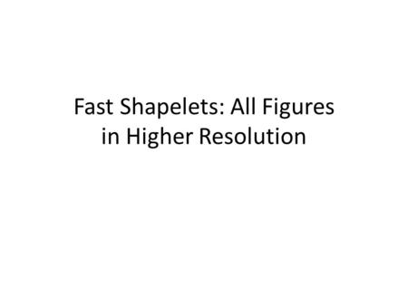 Fast Shapelets: All Figures in Higher Resolution.