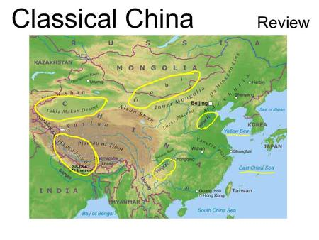 Classical China Review. Political China's earliest governments were dynasties. What is a dynasty? The first civilizations emerged on the Huang He River.