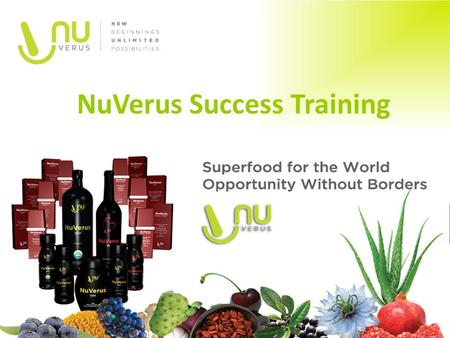 NuVerus Success Training
