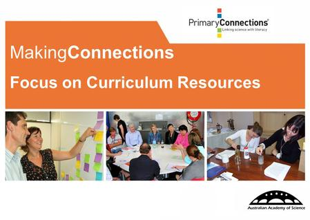 111 MakingConnections Focus on Curriculum Resources.