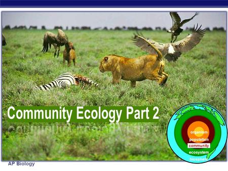 Community Ecology Part 2