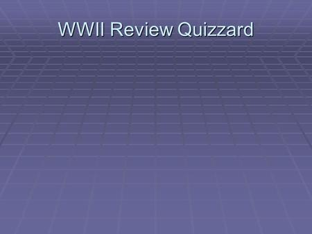 WWII Review Quizzard.  What event caused Congress to declare war?  Pearl Harbor  What legislation had Congress passed that would not allow the US to.