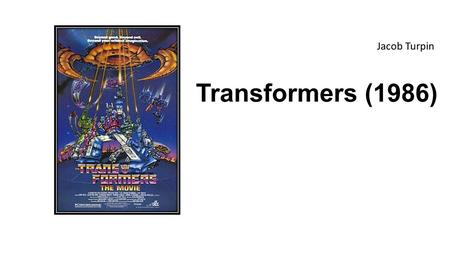 Transformers (1986) Jacob Turpin. _ Blue (Autobots) / Red (Decepticons) characters - U+1099; Laser fire - U+005F In Autobot City on the planet Cybertron,