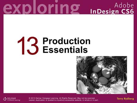 13 Production Essentials. Chapter 13 Objectives Differentiate between continuous tone and vector artwork. Use the mighty Links panel Adjust image resolution.