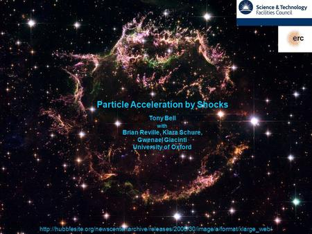 Particle Acceleration by Shocks Brian Reville, Klara Schure,