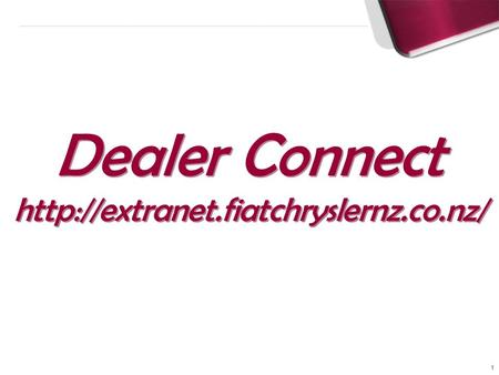 1 Dealer Connect  Dealer Connect