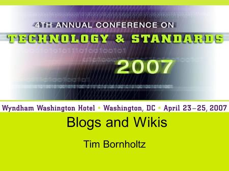 Blogs and Wikis Tim Bornholtz. Purpose Many new technologies are available on the internet that enable people to publish and edit content without expensive.