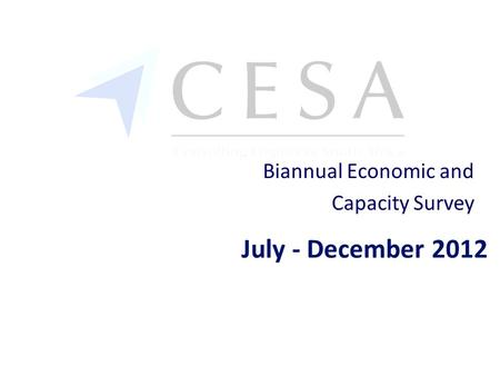 July - December 2012 Biannual Economic and Capacity Survey.