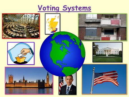 Voting Systems Today we will… Understand the voting system of the Scottish Parliament.