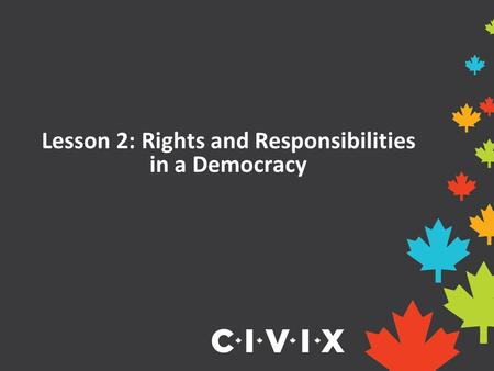 Lesson 2: Rights and Responsibilities in a Democracy.