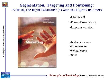 Chapter 9 PowerPoint slides Express version Instructor name