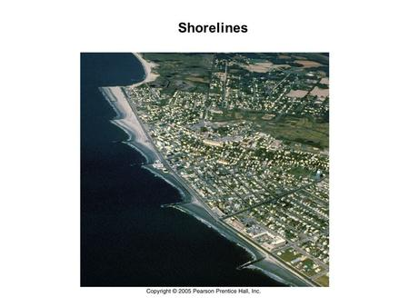 Shorelines. Wave Definitions Wave Physics Longshore Transport.