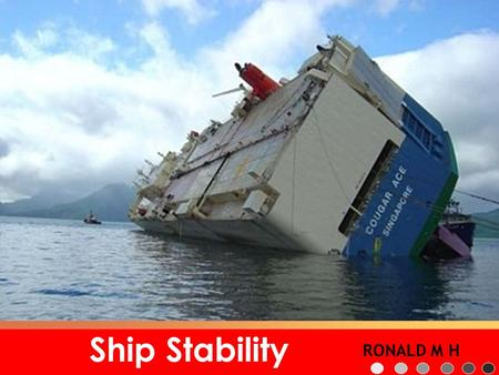 Ship Stability RONALD M H.