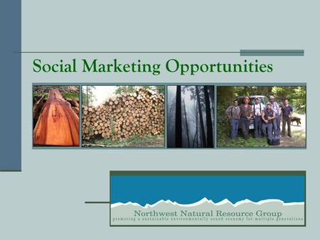 Social Marketing Opportunities. Place text here that introduces your organization and describes your specific products or services. This text should be.