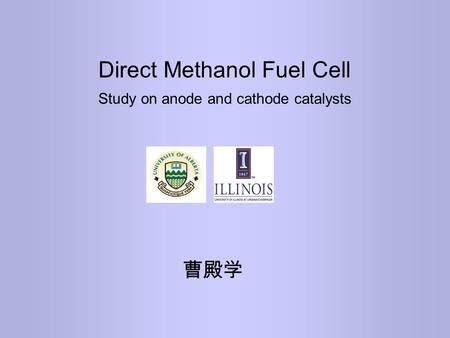 Direct Methanol Fuel Cell Study on anode and cathode catalysts 曹殿学.