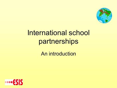 International school partnerships An introduction.