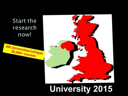 306 Universities/colleges 50,000+ courses University 2015.