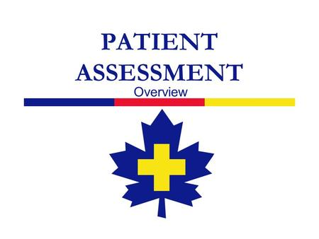 PATIENT ASSESSMENT Overview. 2  The assessment process is your tool to: ensure the safety of yourself and others get help when you need it rationally.