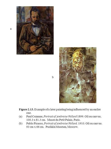 Figure 2.13. Example of a later painting being influenced by an earlier one. (a)Paul Cezanne, Portrait of Ambroise Vollard 1899. Oil on canvas, 100.3 x.