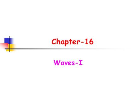 Chapter-16 Waves-I.