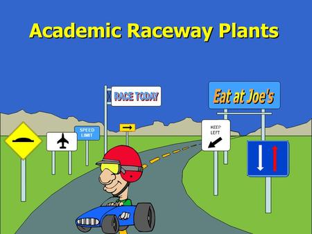 SPEED LIMIT Academic Raceway Plants Plant Parts The student will study the basic parts of plants, investigate how plants produce food, and discover that.