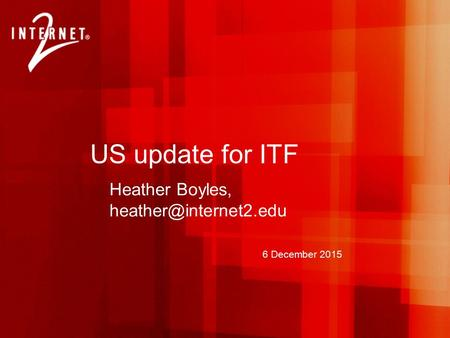 6 December 2015 US update for ITF Heather Boyles,