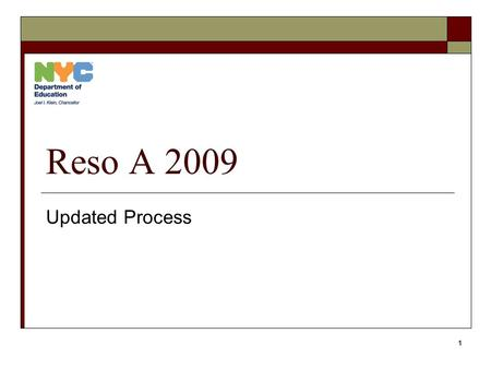 1 Reso A 2009 Updated Process. 2 Overall Process  Awards list is published by CFO's office.  Schools complete the online Technology Walkthrough Survey.