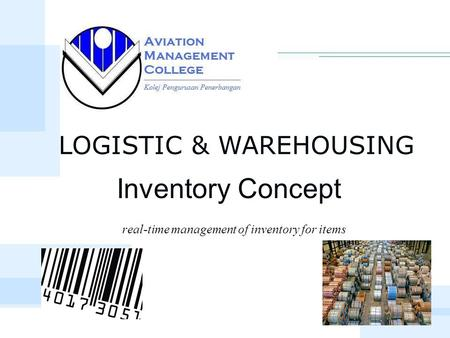 Real-time management of inventory for items Inventory Concept LOGISTIC & WAREHOUSING.