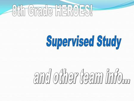 SUPERVISED STUDY WHAT? WHY? A time to… work on unfinished homework. seek additional assistance from teachers. visit the LRC for research or to check.
