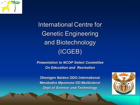 the role of the international centre for genetic engineering and biotechnology in the implementation Sabc 2018 | south asian biotechnology sri lanka together with the international centre for genetic engineering and biotechnology(icgeb) role of biotechnology.