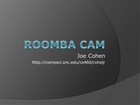 Joe Cohen  Presentation Overview  Project definition and requirements  Solution process and explanation  Methodology.