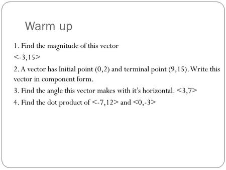 how to find component form of a vector