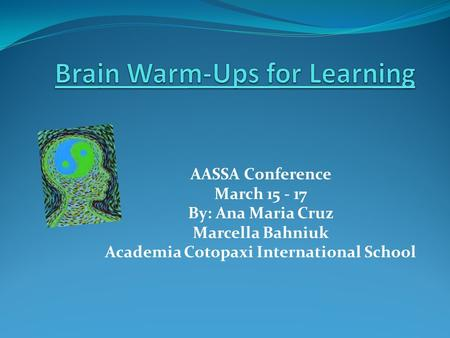 Brain Warm-Ups for Learning