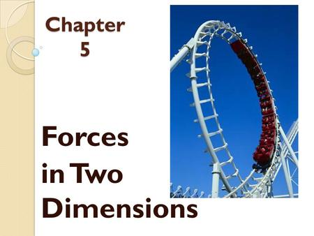 Forces in Two Dimensions